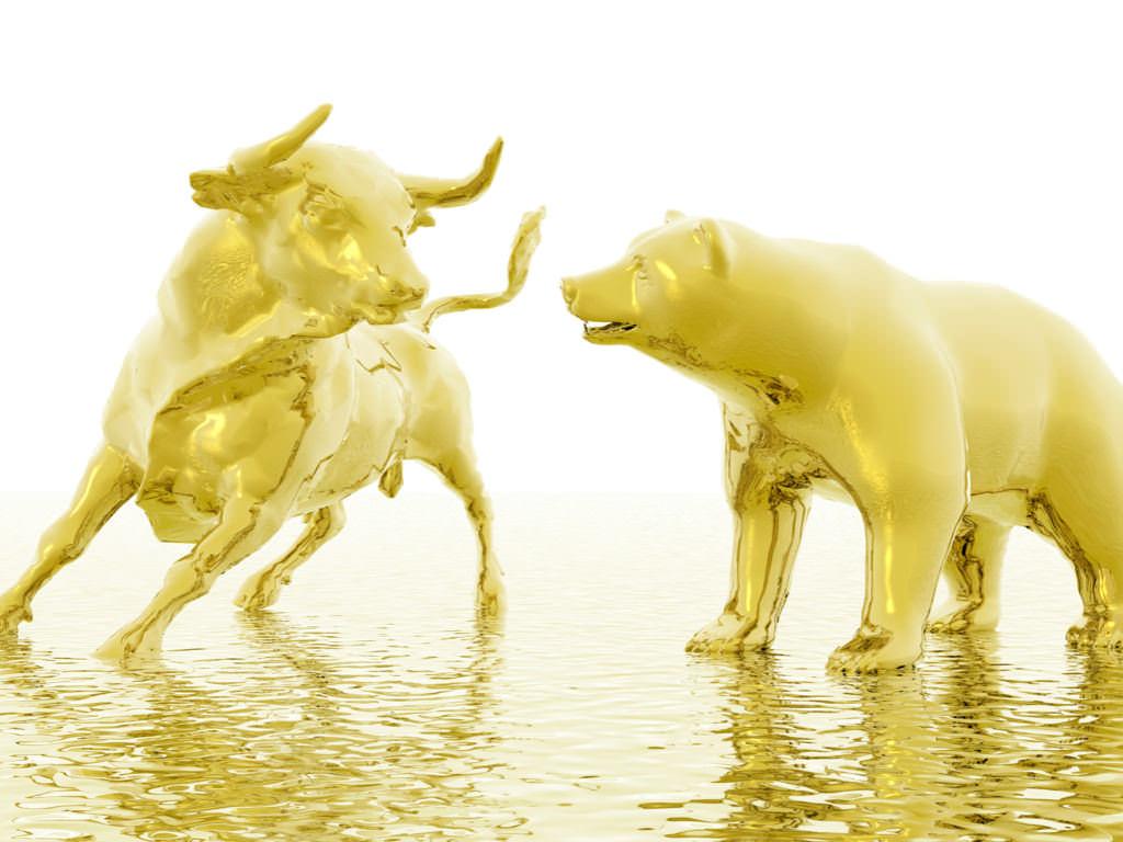 O touro e o urso representam compradores e vendedores no mercado financeiro