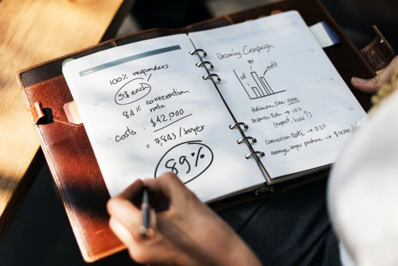 planejamento de finanças pessoais - crie objetivos por escrito