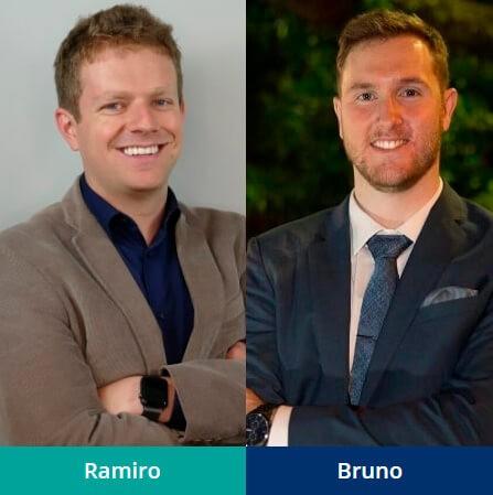 Sócios AGM Brasil e Clube do Valor: Ramiro e Bruno